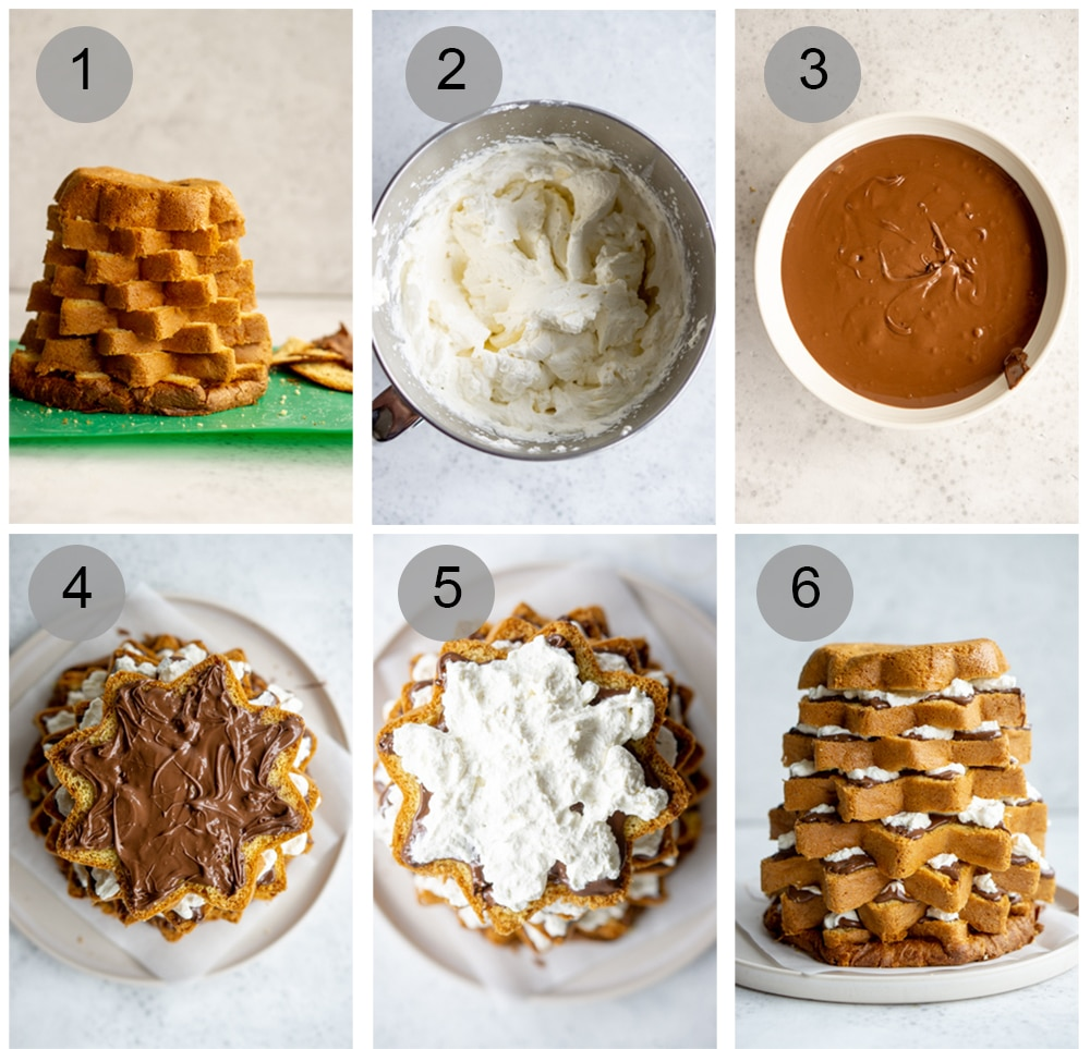 Step by step process on how to make pandoro tree