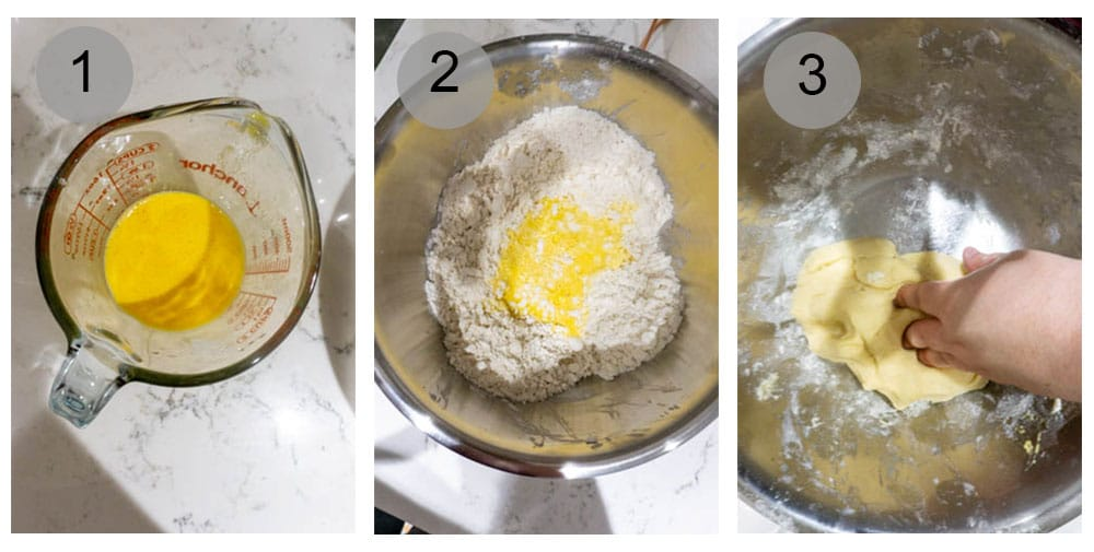 Step by step photos (1-3) on how to make pastiera napoletana