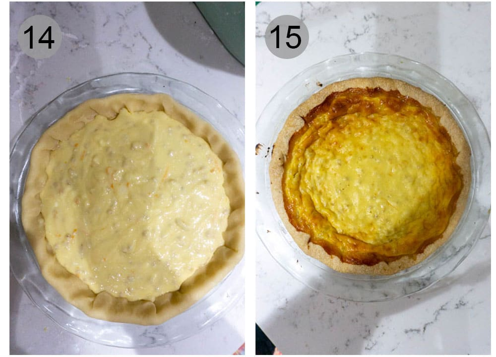 Step by step photos (14-15) on how to make pastiera napoletana