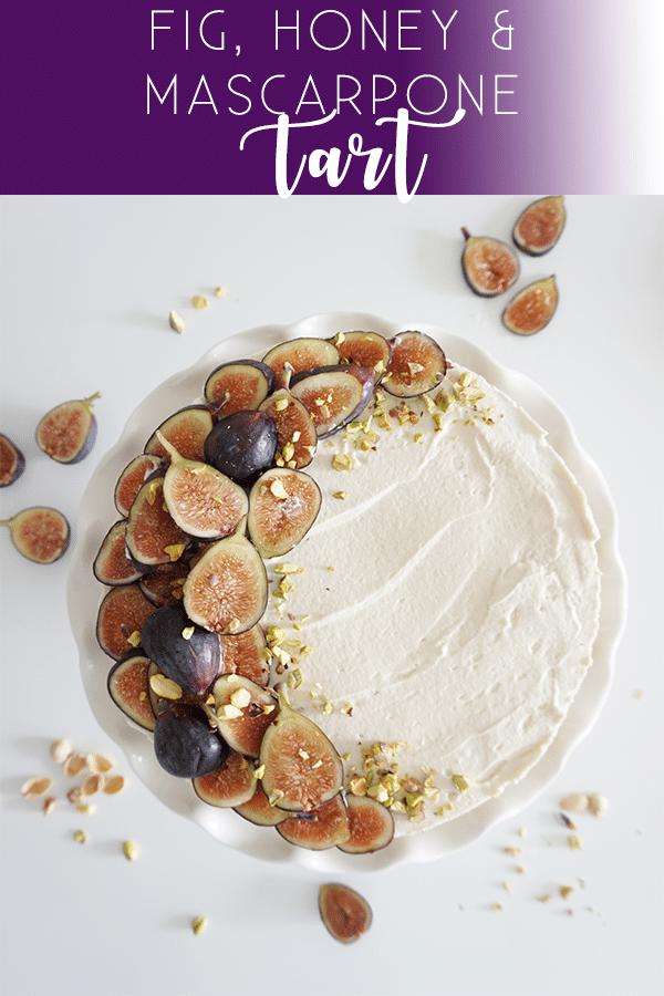 fig honey mascarpone tart