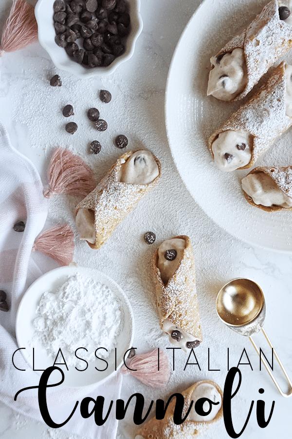 Classic Cannoli with Ricotta Cream