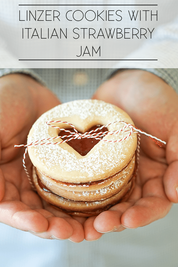 Linzer cookies with Italian strawberry jam