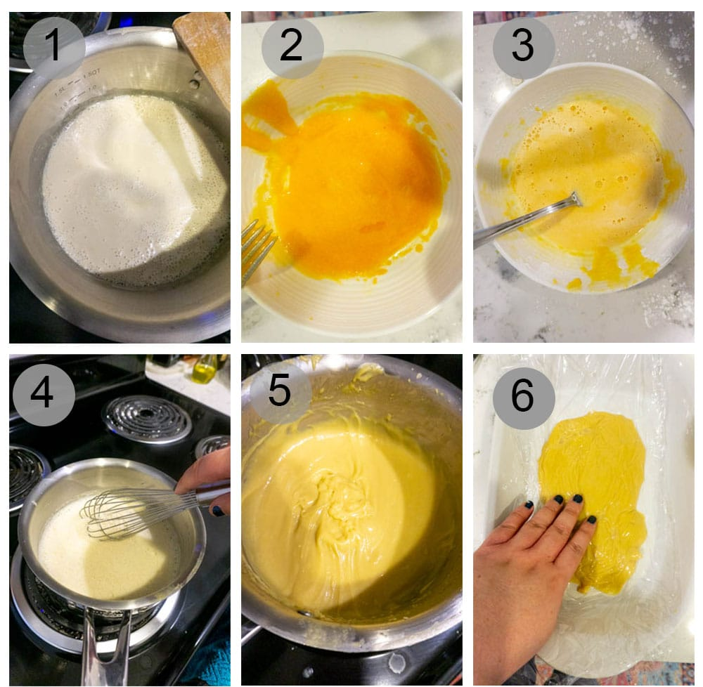 Making pastry cream- Step by step photos on how to make zeppole di San Giuseppe