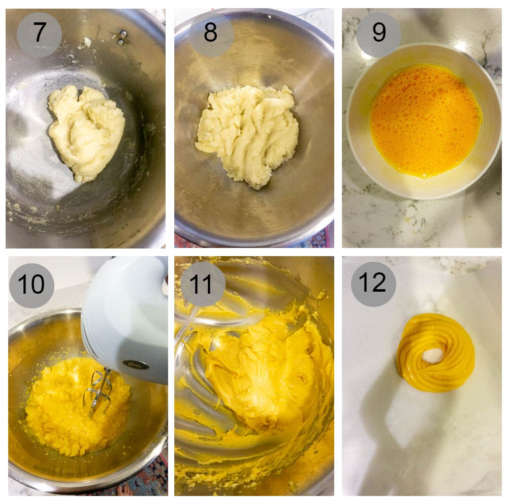 How to make the dough for zeppole di San Giuseppe - step by step photos
