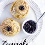 Pinterest image for zeppole di San Giuseppe