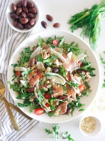prosciutto and fennel arugula salad