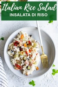 Pinterest image for insalata di riso