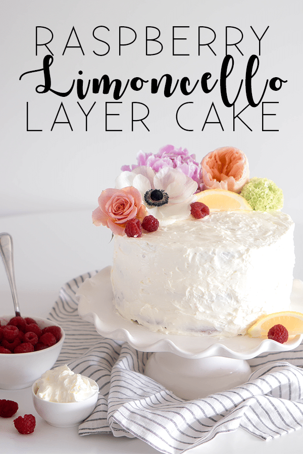 Raspberry Limoncello Layer Cake
