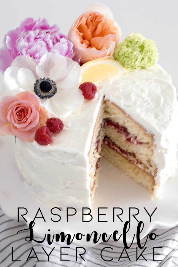 Raspberry Limoncello Layer Cake