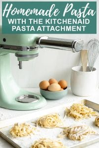 Pinterest image for Kitchenaid pasta attachment