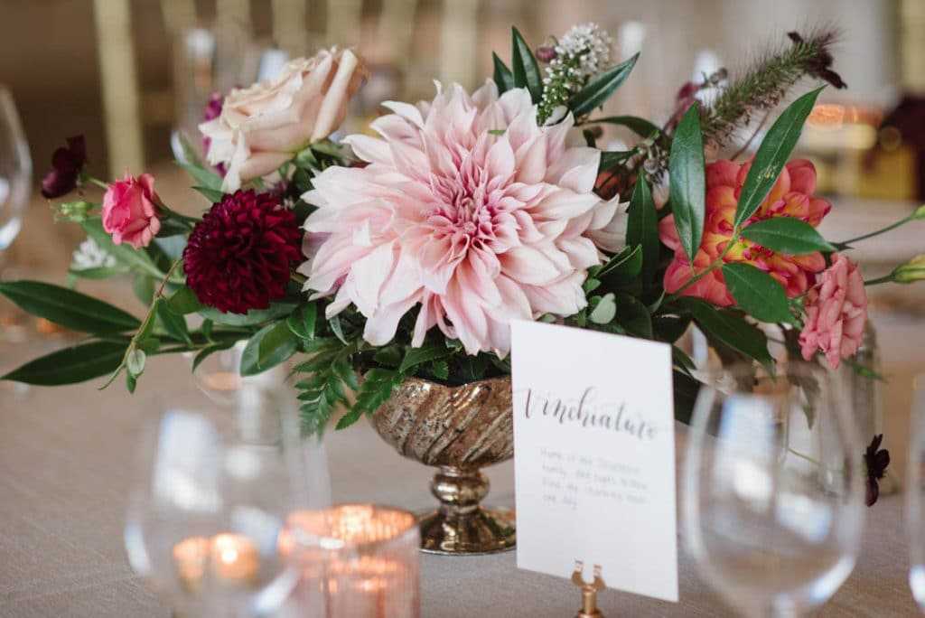 These flowers and table names...love!
