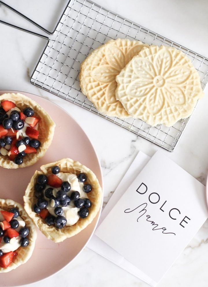 Pizzelle 3 ways