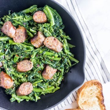 30 minute sausage and rapini