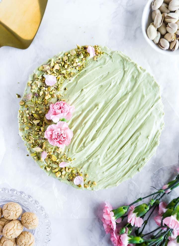 pistachio mascarpone tart