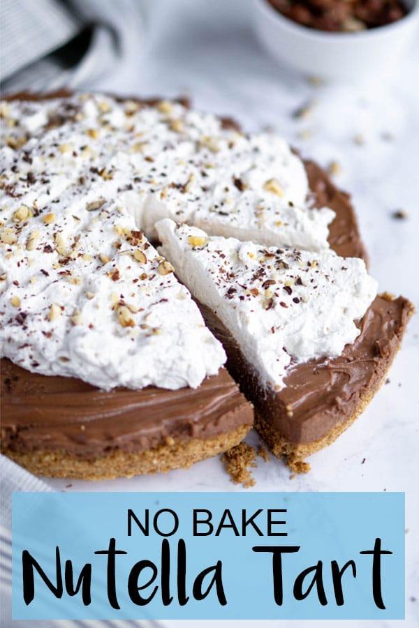 Easy No Bake Nutella Tart