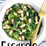 Pinterest image for escarole and beans