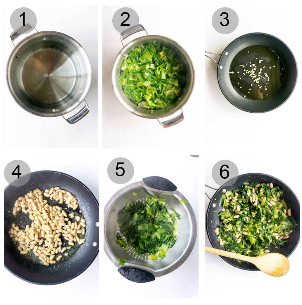 How to make escarole and beans - step by step