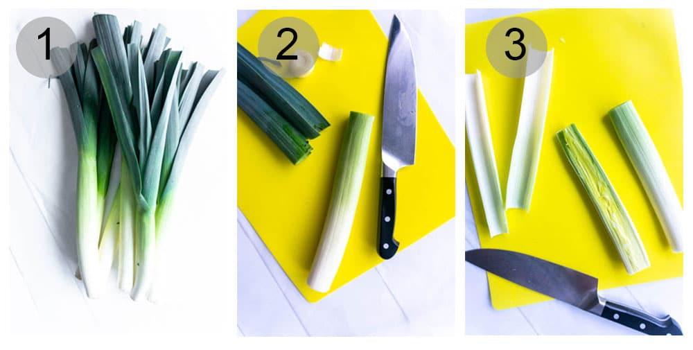 how to cut leeks