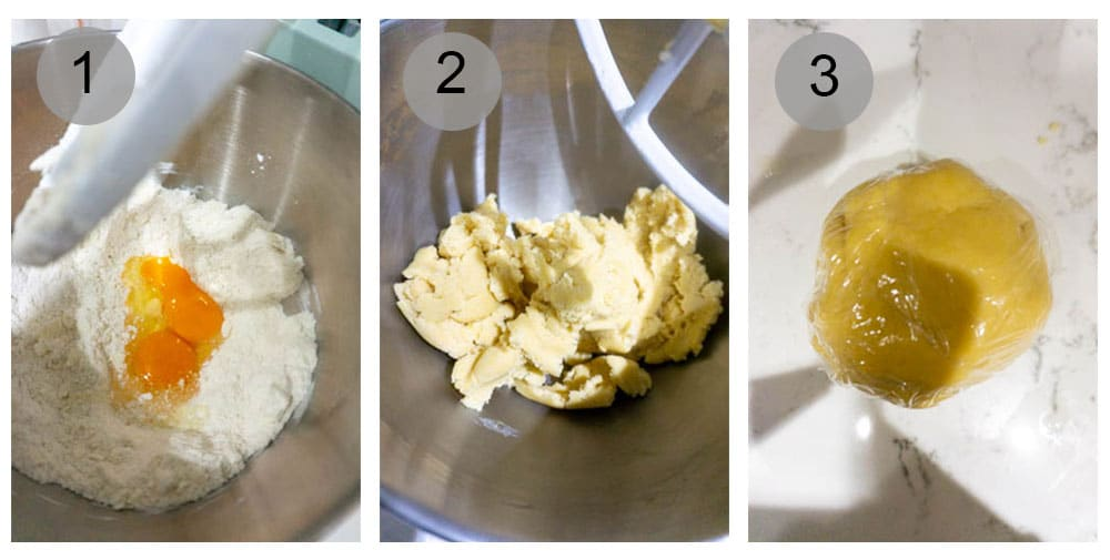 Step by step photos of how to make pastiera napoletana (1-3)