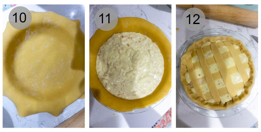 step by step photos on how to make pastiera napoletana (10-12)