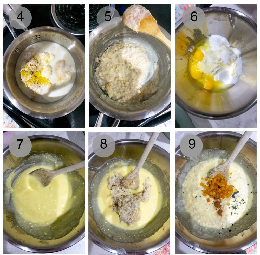 Step by step photos of how to make pastiera napoletana (4-9)