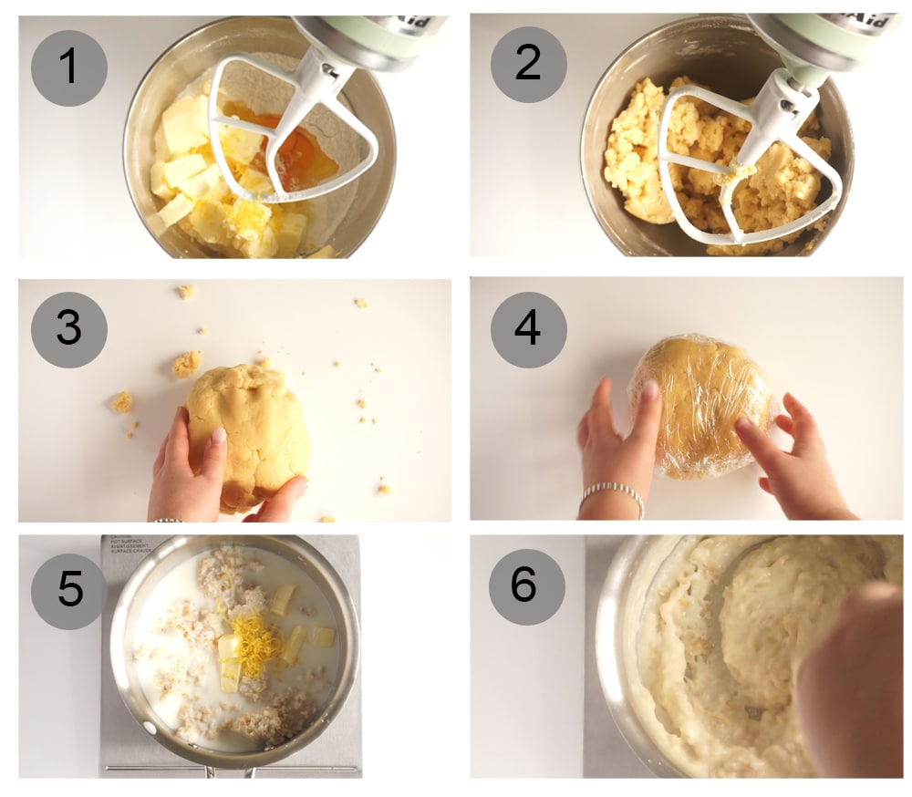 Step by step photos on how to make pastiera napoletana (#1-6)