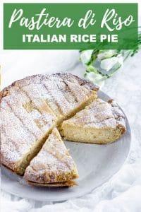 Pinterest image for pastiera di riso