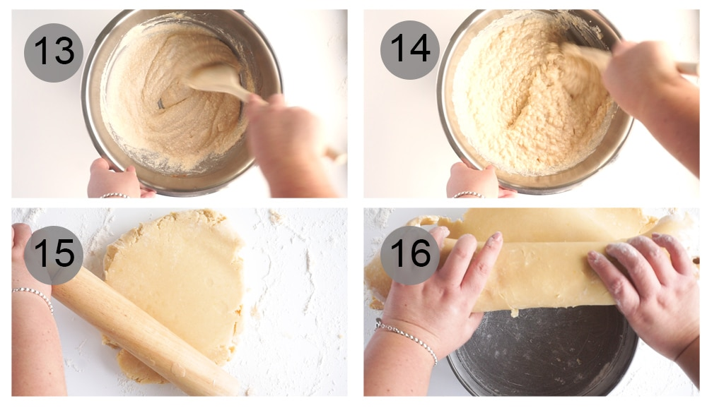 Step by step photos on how to make rice pie (#13-26)