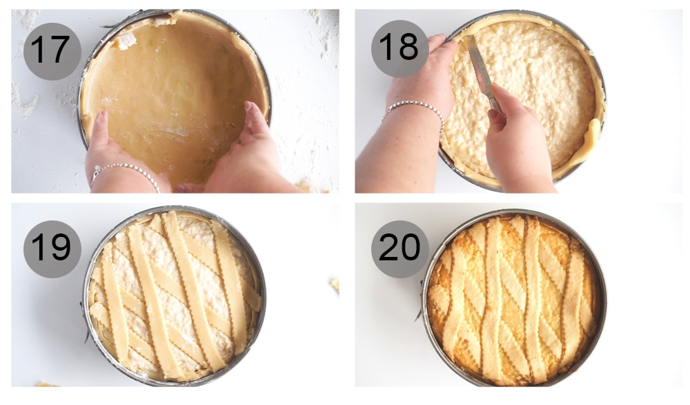 Step by step photos on how to make rice pie (#17-20)