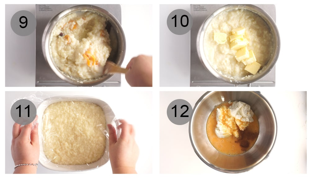 Step by step photos on how to make rice pie (#9-12)