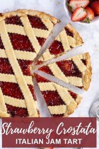 Pinterest image for crostata
