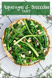 PINTEREST IMAGE FOR ASPARAGUS TART