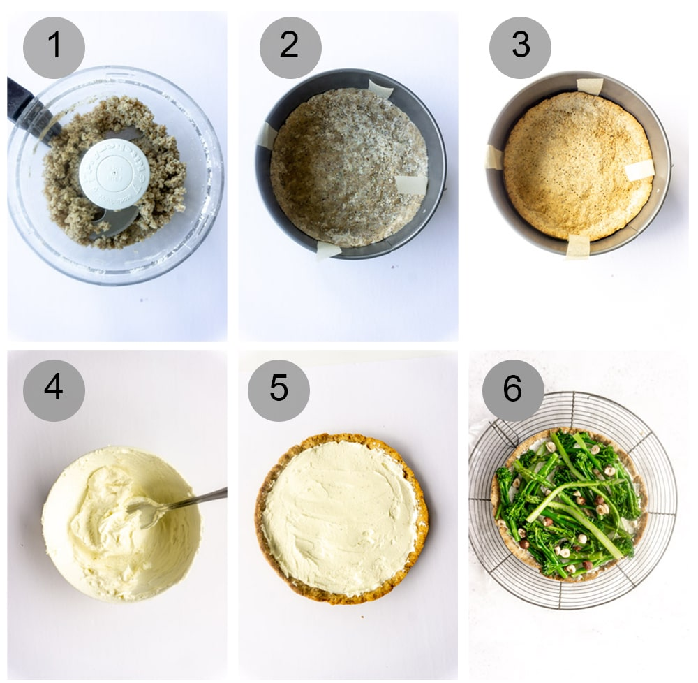 Step by step photos on how to make asparagus tart