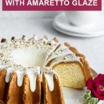Pinterest image for almond cake