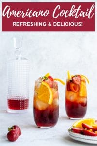 Pinterest image for americano cocktail