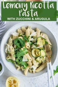Pinterest image for ricotta pasta