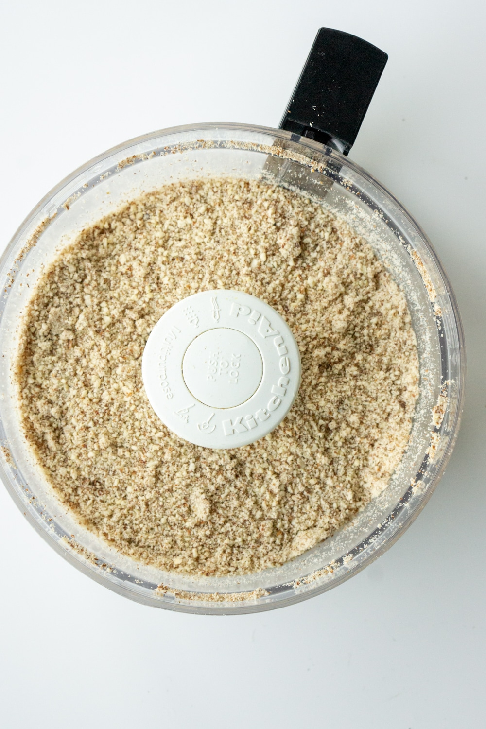 Ground almonds in a food processor