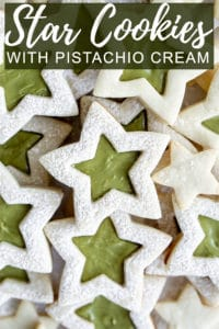 Pinterest image for star cookies