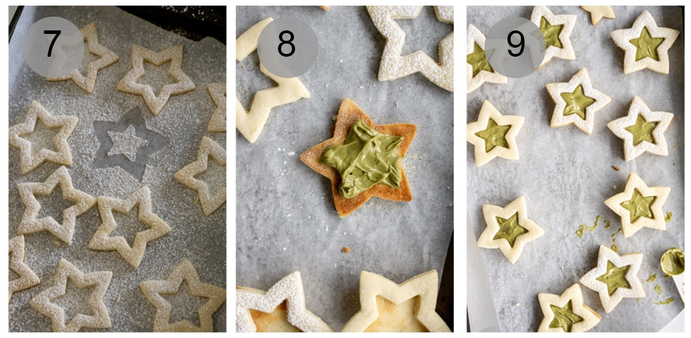 How to make pistachio star cookies - step by step (#7-9)