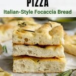 Pinterest image for focaccia pizza