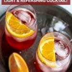 Pinterest image for campari and soda