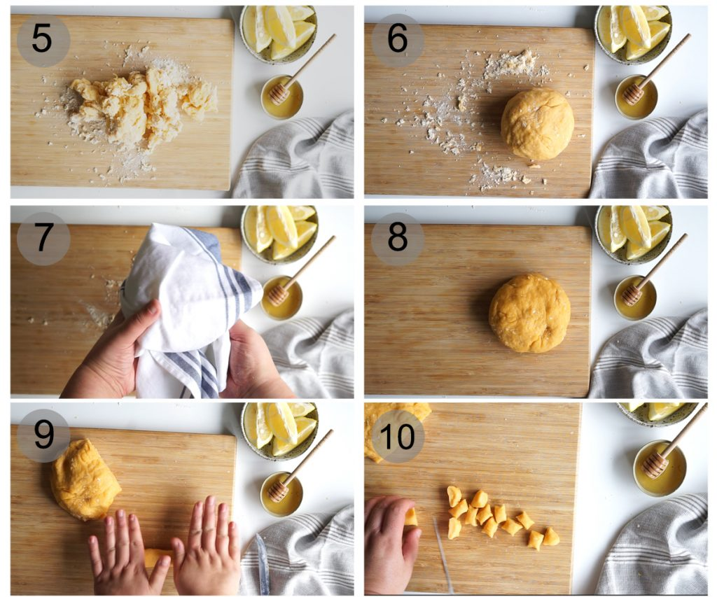 Step by step photos on how to make struffoli (#5-10)