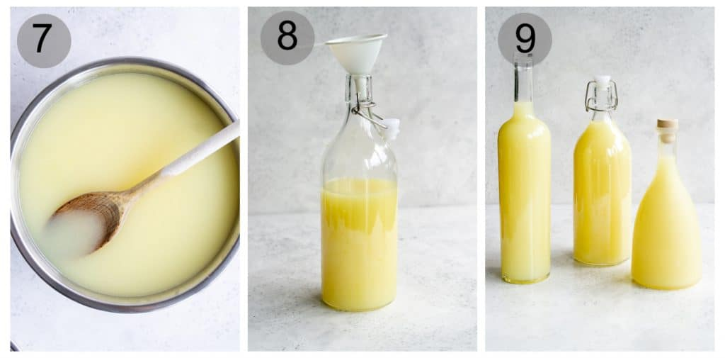 Step by step process on how to make limoncello (#7-9)