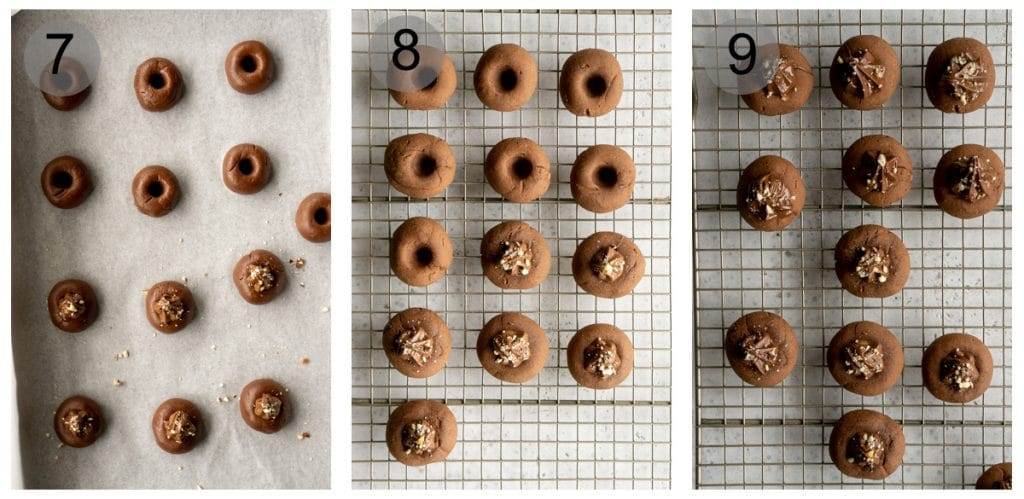 Step by step photos on how to make 3-ingredient nutella cookies (#7-9)
