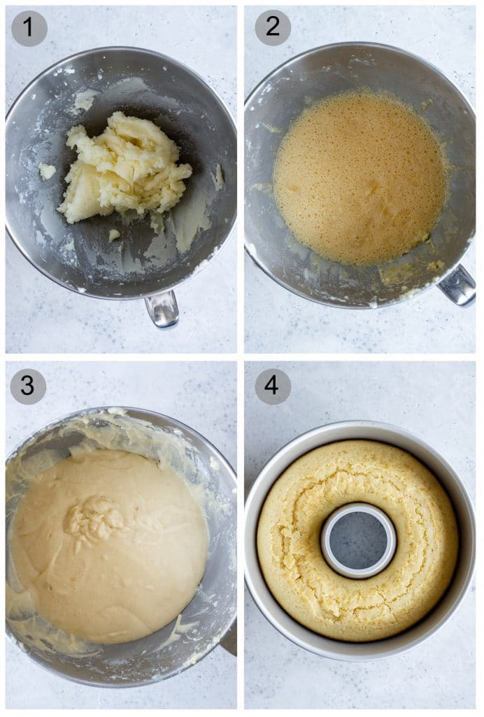 Step by step photos on how to make ciambellone