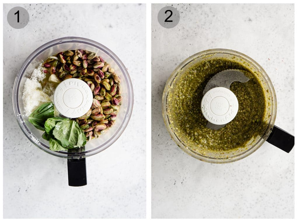 How to make pistachio pesto - step by step (#1-2)