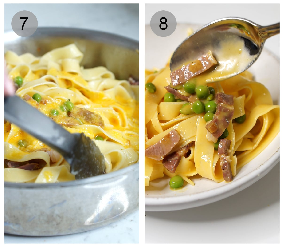 Step by step photos on how to make papalina pasta (#7-8)